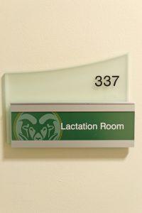 Lactation room sign
