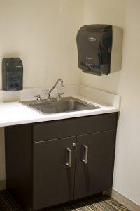 Lactation room sink area