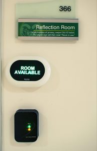 Reflection room sign and room in use indicator